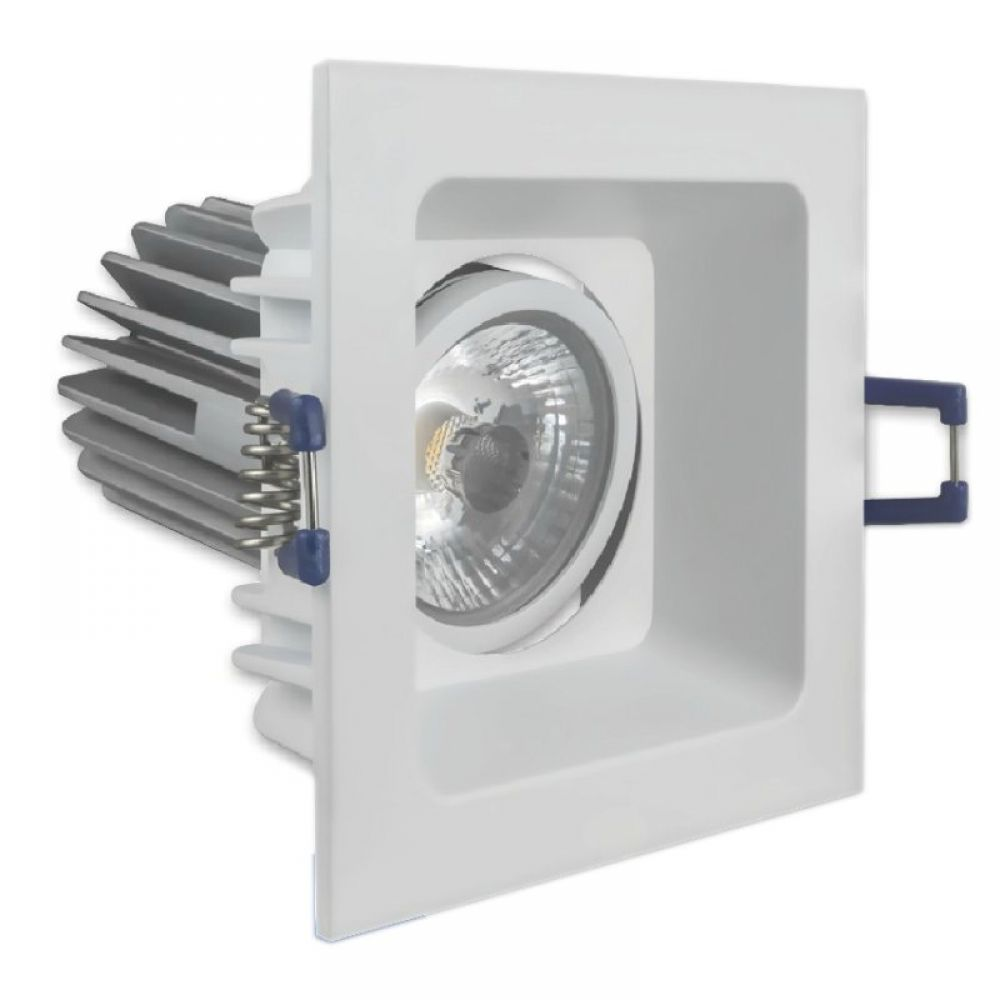 Led Wall Light Crompton: Adana Square 8W LED Tilt Dimmable Downlight 3000K Warm White