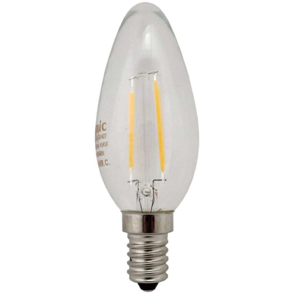 Filament Led Candle Bulb 2w E14 Ses Clear