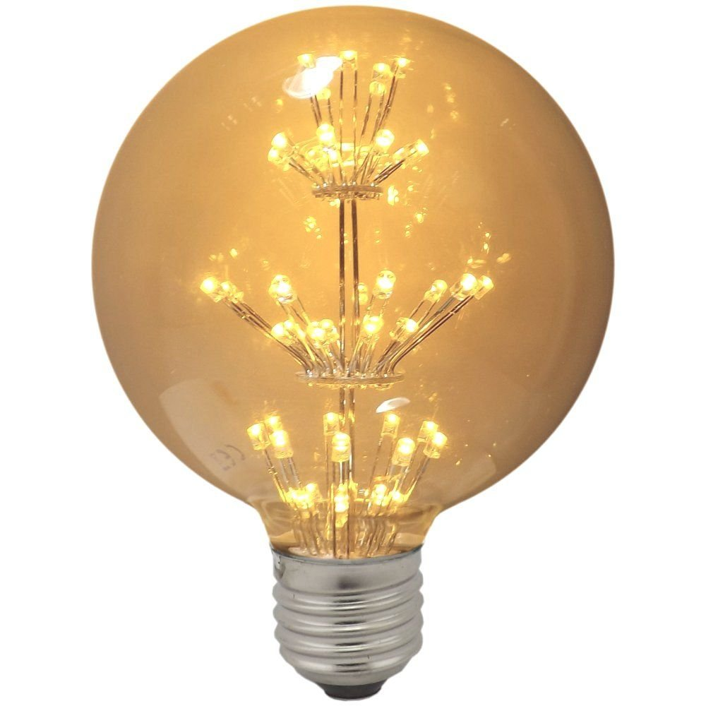 Impact led antique globe light bulb 1 3w es warm white Light bulb lamps