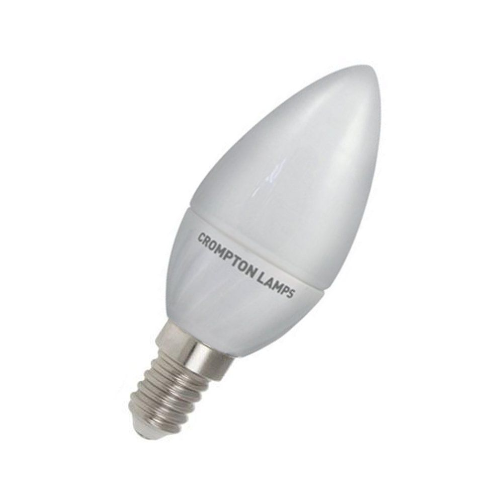 Energizer 6w 40w Non Dim Led Clear Candle Ses E14 Warm: Dimmable LED 4W Candle SES Opal Warm White