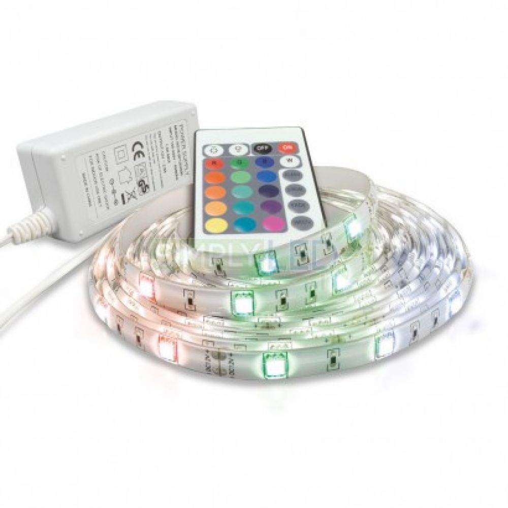 5m led flexible ip65 strip light rgb with remote control. Black Bedroom Furniture Sets. Home Design Ideas