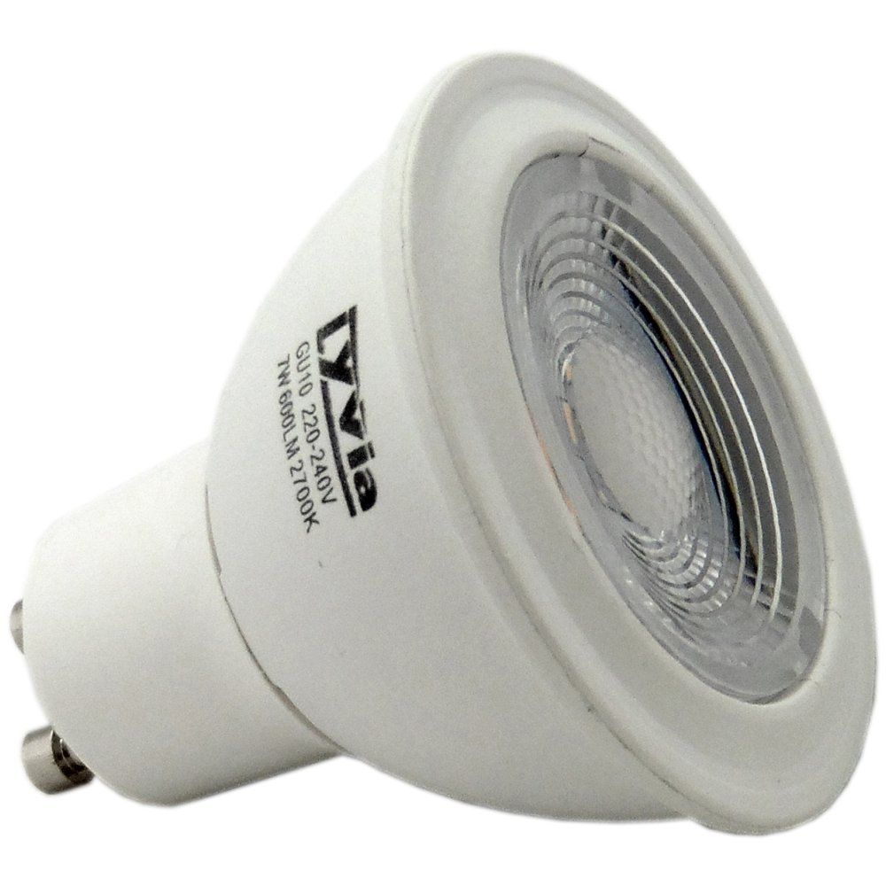 7w Gu10 Led Spot Light Bulb 2700k 60 Degree Non Dimmable