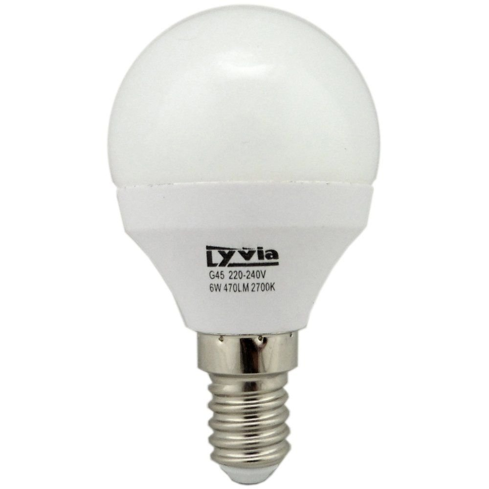 6w ses e14 golfball 2700k warm white non dimmable. Black Bedroom Furniture Sets. Home Design Ideas