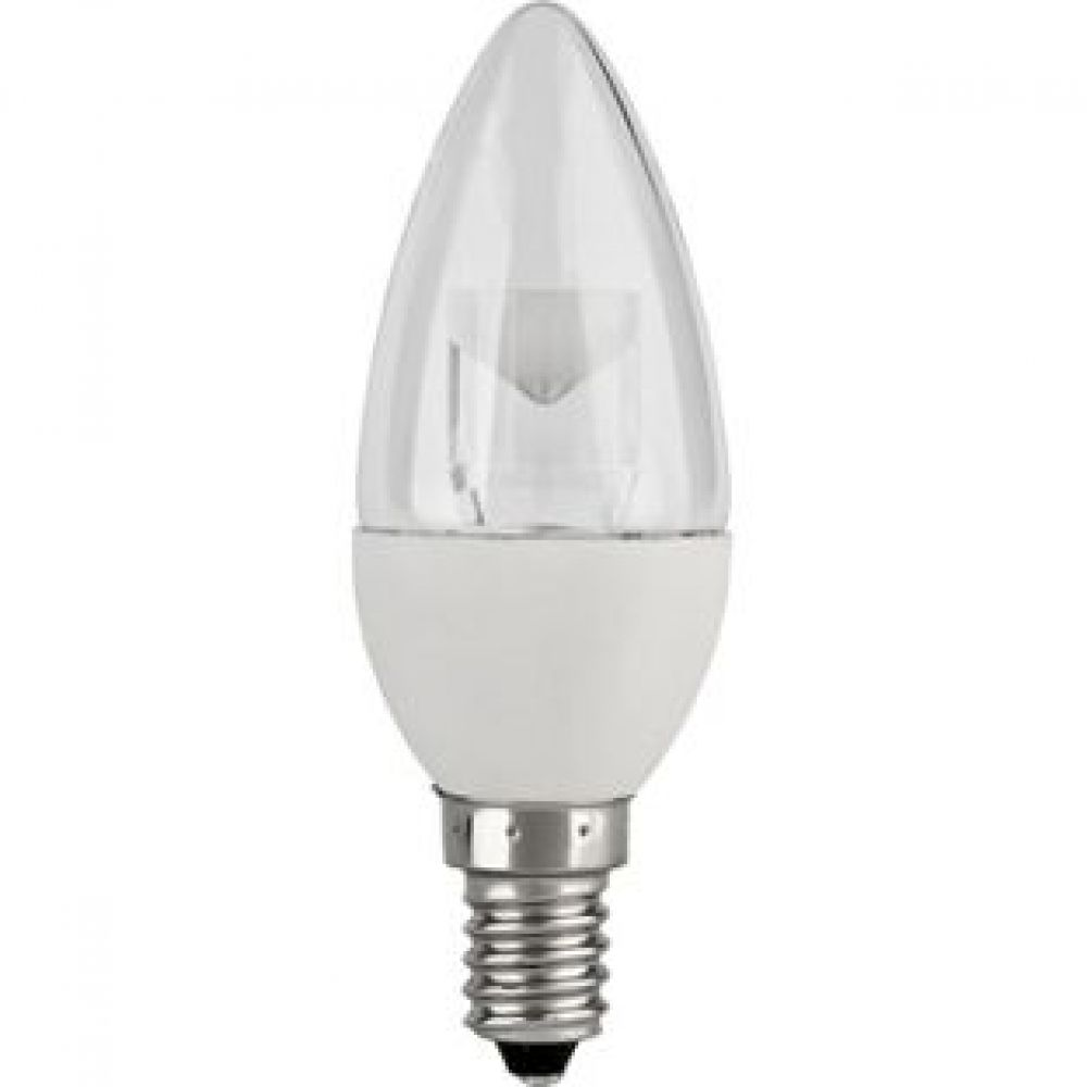 Led Candle 5w E14 Clear 3000k Non Dimmable