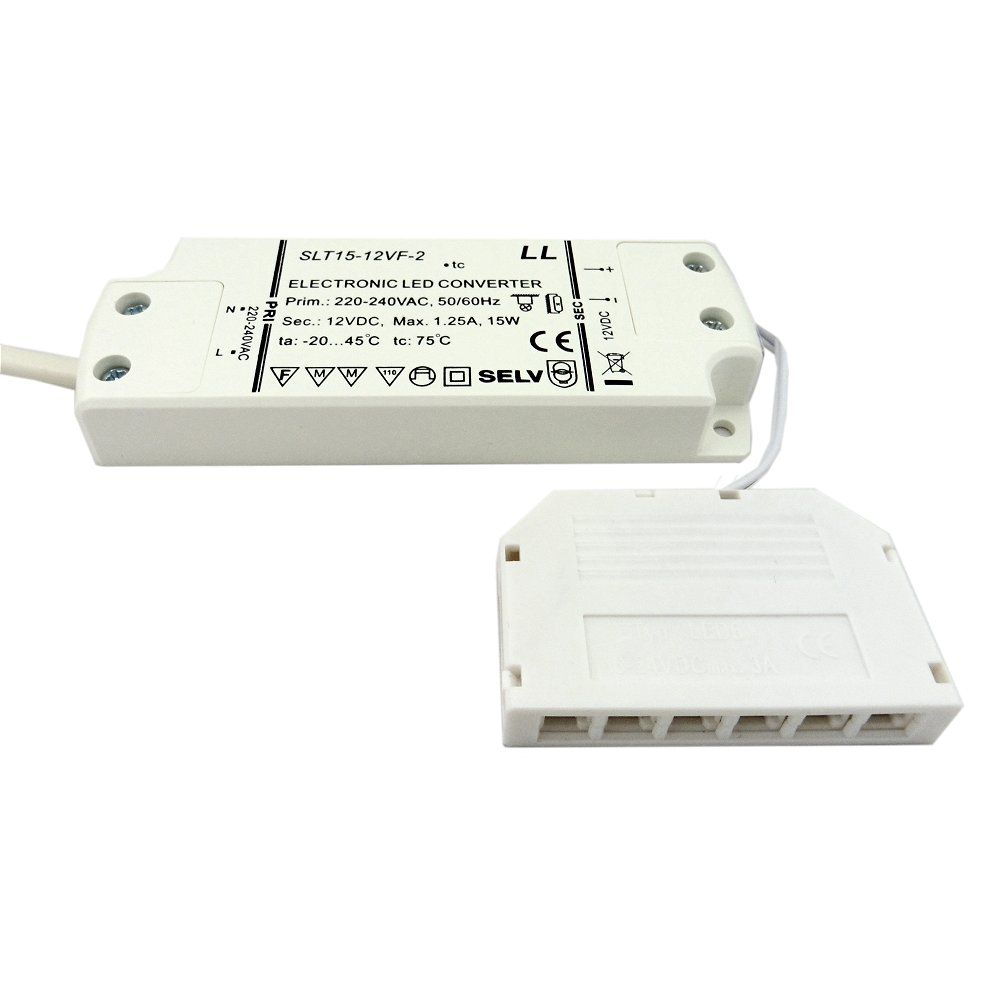Led Driver 12v 15w Max With Top 6 Way Micro Port 4w Fluorescent Lamp