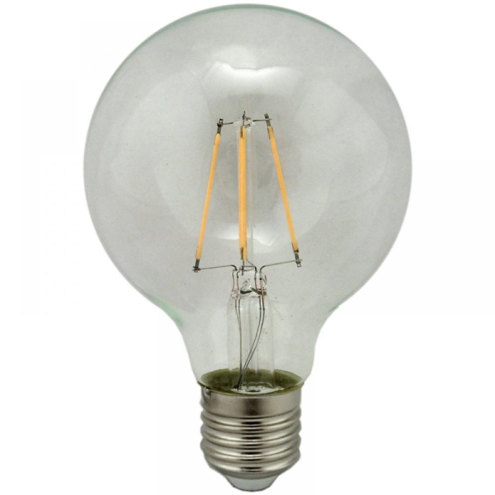 G80 Globe Led Filament Light Bulb 4w Warm White Es Cap