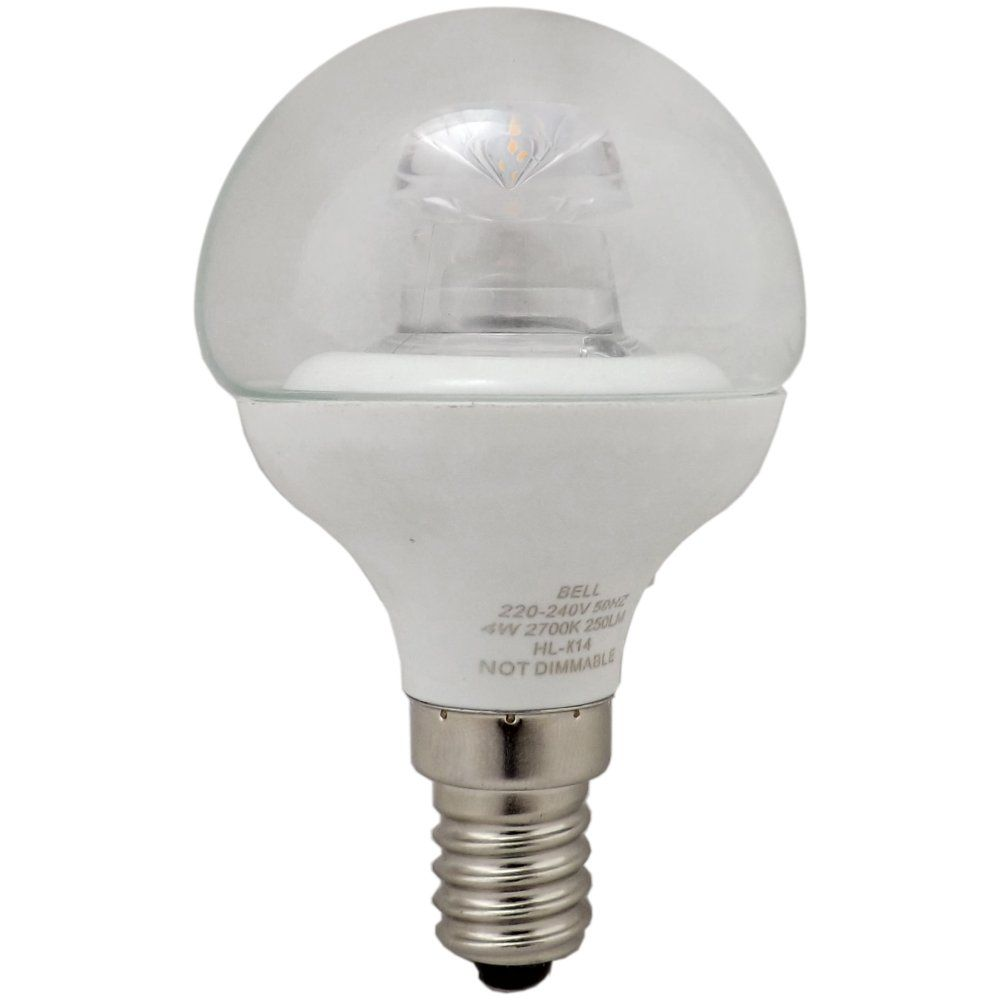 05709 4w Clear Mini Globe Led Light Bulb 4w Ses E14