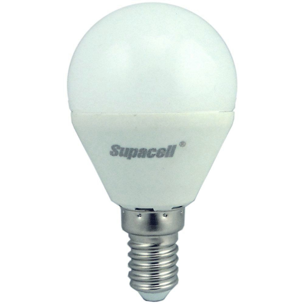 supacell led golfball 5w 40w 425lm ses e14 2700k non dim opal. Black Bedroom Furniture Sets. Home Design Ideas