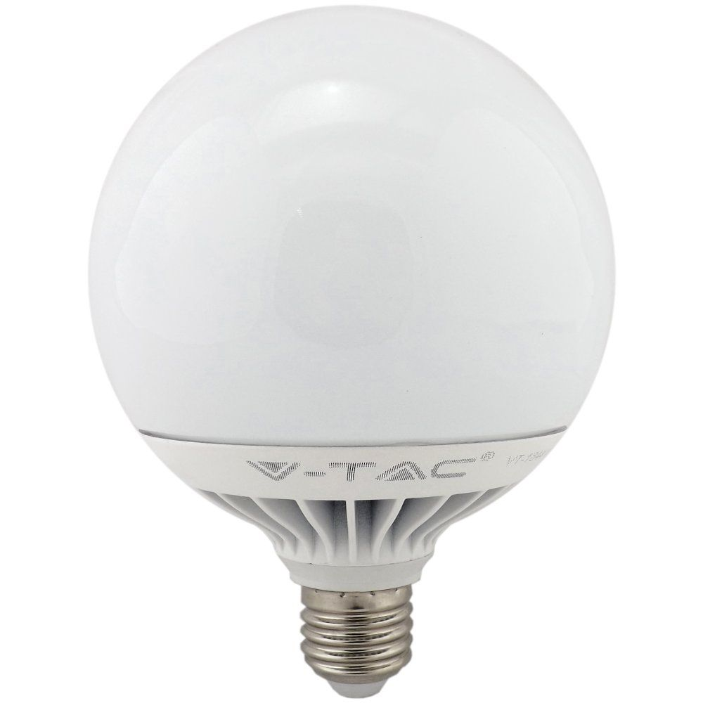 V Tac Led 120mm Globe 15w Warm White E27 Non Dimmable