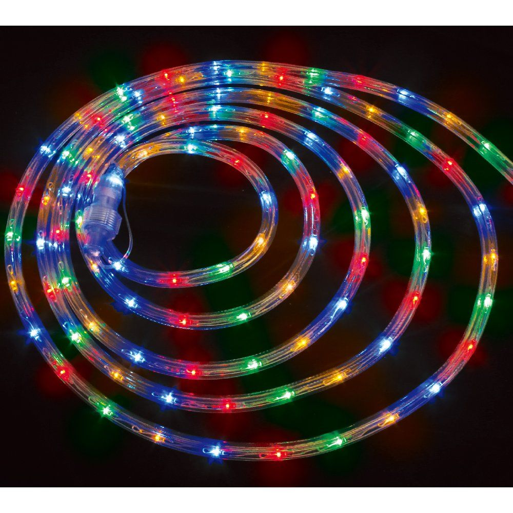 10m-Multicolour Linkable LED Rope Light (mains plugin)