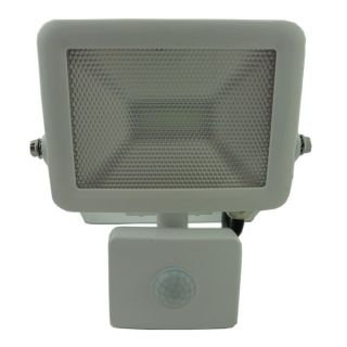 LyvEco 10W LED Slim Floodlight White case with PIR IP65 800lm 6200k