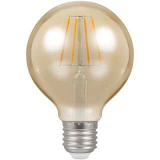 Crompton LED Filament 80mm Globe 5W ES 2200k Dimmable 4276