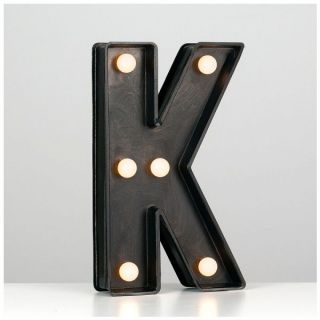 Minisun 21066 Battery Powered LED Light Up Alphabet Letter K