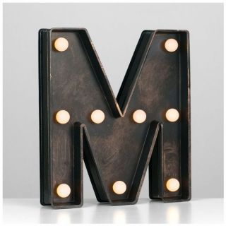 Minisun 21068 Battery Powered LED Light Up Alphabet Letter M